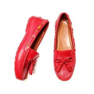 Coach Tassel Pebble Grain Leather Loafer / 5B